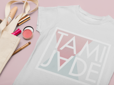 flat-lay-mockup-of-a-t-shirt-featuring-some-makeup-33947