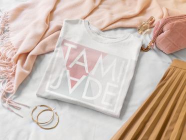 folded-t-shirt-mockup-surrounded-by-girly-garments-33948